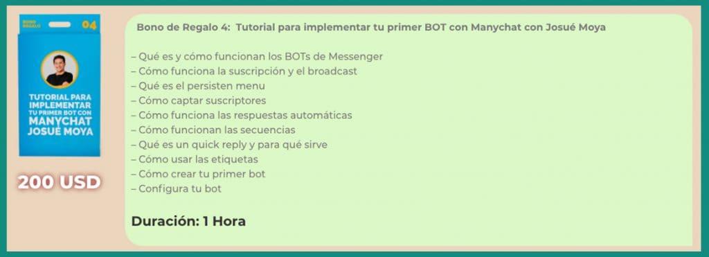 Neuroventas para chat marketing Bono 4
