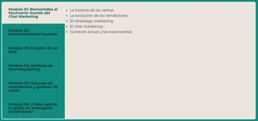 Neuroventas para Chat Marketing Modulo 1